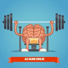 Athletic and fit brain pumping up mind muscles on bench press. Training powerful and smart mentality. Social Media Humor, Human Icon, Sport Icon, Health App, Brain Training, Blogger Templates, Your Brain, Cyber, Something To Do