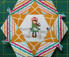Smitten Quilt Small Hexagon One A   Join our English Paper Piecing Group on Facebook.  https://www.facebook.com/groups/smittenquilt/