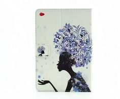 Tablet Leather n Silicone case with butterfly amp flower pattern