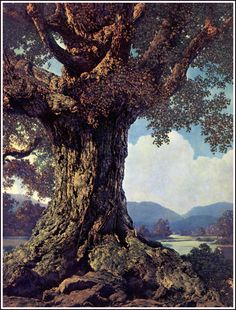 Ancient Tree by Maxfield Parrish, 1950. ~via TI Group, FB