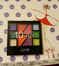 New, NickA K New York Perfect Ten Colors Eyeshadow Palette.