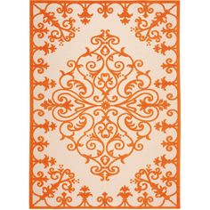 Nourison Scroll Indoor/Outdoor Rectangular Rug ($72) ❤ liked on Polyvore featuring home, rugs, olefin rug, persian area rugs, bright colored area rugs, rectangular rugs and persian style rugs