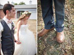 19-brown shoes groom grey suit