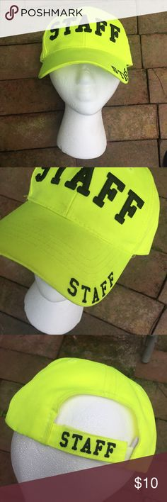 8d7e40c017c Neon Staff Cap Staff Neon Cap -good condition