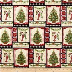 Holiday Magic Trim a Tree Pane Multi