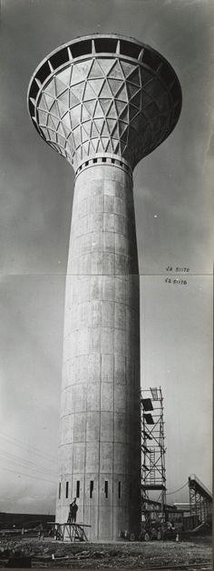 Torre Stabilimento Fiat, Mirafiori   Pier Luigi Nervi, 1961  lotus shape