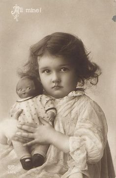 Vintage Postcard ~ Little Girl w/Doll | Flickr - Photo Sharing!