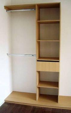 Fotos de muebles melamina y madera com portal pelautscom for Closet para espacios pequenos