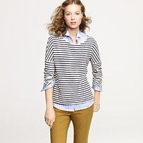 I want mustard pants...and the rest of this outfit. JCrew