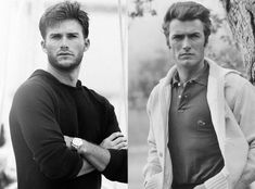 Scott & Clint Eastwood from Celeb Parents & Their Mini-Me's  Talk about winning the genetic lottery! While yes, Clint is neither a model nor a mom, the iconic actor definitely passed his good looks onto his son.