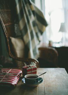 presents + coffee #christmas