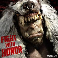New promo poster of Durotan from Warcraft movie - Imgur