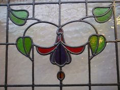 VICTORIAN EDWARDIAN STAINED GLASS PANELS HAND MADE LEADED LIGHT GLASS MADE