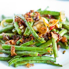 Sweet Chili Green Beans **Make w/ Turkey Bacon or eliminate bacon all together**