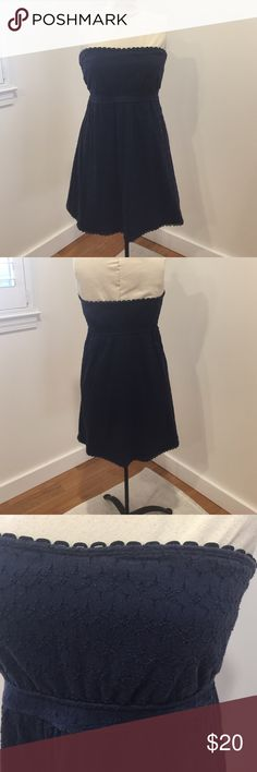 Juicy Couture navy blue strapless dress Juicy Couture navy blue strapless dress size M. Worn a few times. Make me an offer! No trades! Juicy Couture Dresses Strapless