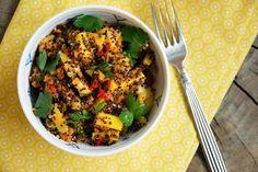 Quinoa salat med mango og chili