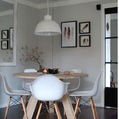 Interieur blog Maison Belle: onze ronde eettafel van Woood. #myhome