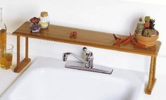 Over Sink Kitchen Storage Shelf. Space Saver Faucet Dishes Shelves Rack Soap Coo. Easy to clean with mild soap and water; minimal assembly required. | eBay!