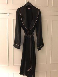 Agent provocateur dressing gown black silk size medium worn · $46.00 Festool Sander, Uniform Dress, Agent Provocateur, Size 14 Dresses, Black Silk, Dressing, Gowns, Medium, Fashion