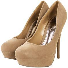 Dressrail.com - Faux Suede Platform Court Shoes-Camel ($7.70) ❤ liked on Polyvore featuring shoes, pumps, heels, zapatos, sapatos, high heels, camel shoes, platform shoes, high heel pumps and heel platform shoes