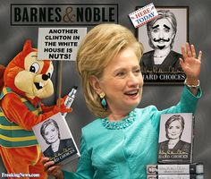 Hillary Clinton Stalked By A Giant Squirrel