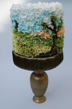 Landscape ruffles - Cake by Katarzynka