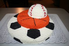 3D Sports Ball Cake by Jens Creations, via Flickr
