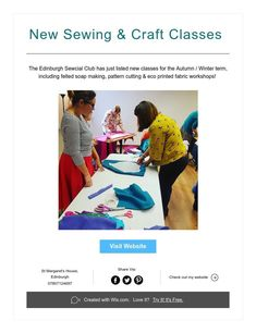 New Sewing & Craft Classes