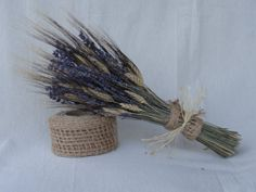 Love this! Elegant Bouquet with Lavender and Wheat  Weddings  by SteliosArt, €25.00