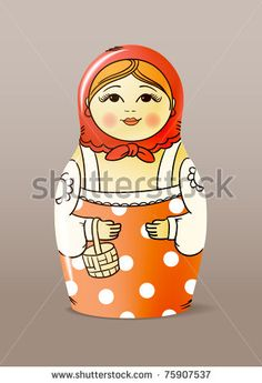 Traditional hand-drawn painted wood doll by tovovan, via Shutterstock