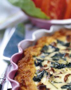 Sieni-pinaattipiirakka | Reseptit | Anna.fi Margarita, Quiche, Feta, Breakfast, Morning Coffee, Margaritas, Quiches