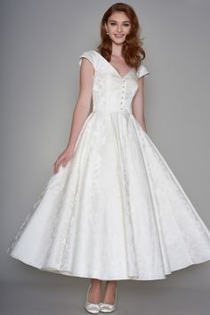 LouLou Bridal Tea Length Wedding Dress LB171 Becky