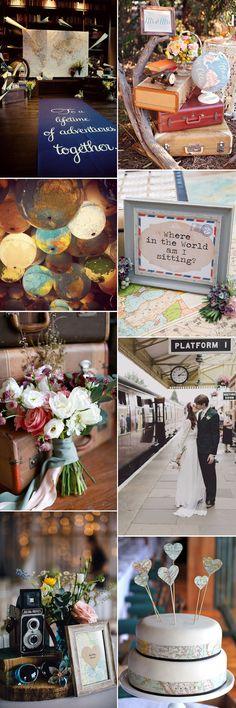 Explore vintage travel as a wedding theme