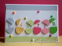 Easter Card with Lots of Bright and Colorful Eggs
