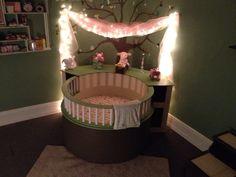 Baby circle crib