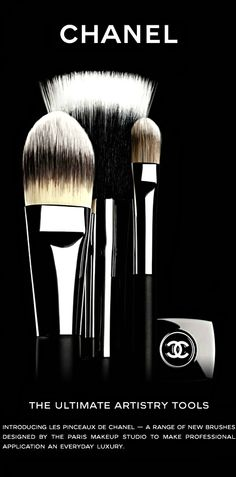 Chanel Artistry Brushes. #Chanel #makeup