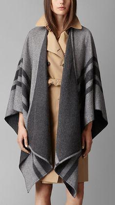 Striped Cashmere Merino Wool Wrap | Burberry $995