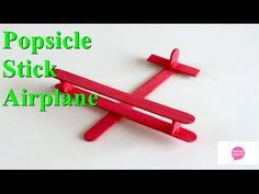 How to Make a Popsicle Stick Aeroplane. This is very wonderful easy homemade toy plane for kids. We will see How to make a toy airplane, Homemade toy for kids. hello kids, On champs crafts channel today we Popsicle Stick Crafts For Kids, Popsicle Sticks, Craft Stick Crafts, Fun Crafts, Diy Projects For Kids, Paper Crafts For Kids, Diy For Kids, Airplane Kids, Airplane Crafts