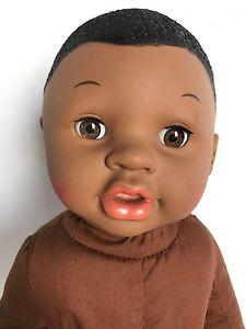 """GI-GO 13"""" African American Baby Doll Soft Fabric Body w Sleeping Eyes    eBay"""