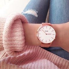 Rose Gold Cluse Watch (Best Christmas Colors)