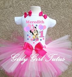 273946612 Baby Girl Minnie Mouse 1st Birthday Tutu Outfit First Birthday Tutu, 2nd Birthday  Outfit,