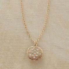 """Andromeda Necklace  Victoria Cunningham embeds a constellation of diamonds in 14kt matte gold. 14kt chain; spring ring clasp. Exclusive. Handmade in USA. 16""""L.  Read Our Product Story     Be the first to write a review  #56087 Andromeda Necklace  $850.00"""