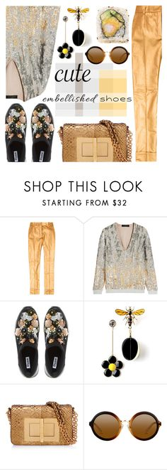 """""""Embellished Shoes"""" by barbarela11 ❤ liked on Polyvore featuring RVDK, Jenny Packham, Dune, Tom Ford, Ultimate, contestentry, polyvoreeditorial and embellishedshoes"""