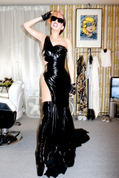 Ugh this dress, I died. <3 'Gaga in her dressing room after the show in Tokyo #4' by Terry Richardson