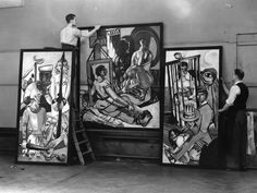 """German Expressionist painter Max Beckmann was among the artists pilloried by Adolf Hitler in the """"Degenerate Art"""" exhibition in Munich of Max Beckmann, Kunst Online, Online Art, Wassily Kandinsky, Max Oppenheimer, George Grosz, Degenerate Art, Expressionist Artists, V & A Museum"""