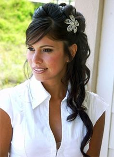Black Wedding Hairstyles For Long Hair ~ http://wowhairstyle.com/black-wedding-hairstyles/
