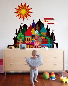 This Imaginary Castle by Blik wall decals goes great with matryoshka dolls and a bottle of vodka. Available in 2 sizes, a 36-inch wide decal and a 6-foot wide decal. Let your imagination decide.