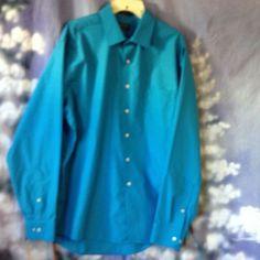 Arrow mens blue long sleeve shirt size 17 1/2 36/37 #Arrow
