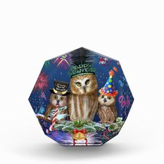 HAPPY NEW YEAR FROM ALL OF US! ACRYLIC AWARD - Halloween happyhalloween festival party holiday