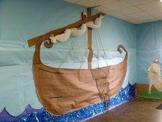 Bible boat wall decoration